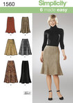Klassisk nederdel med let svaj