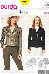 Burda mønster: Jakke, jersey blazer, ufoeret