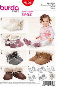 Burda mønster: Babystøvler, pelsstøvler