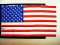 Amerikansk flag som strygemærke