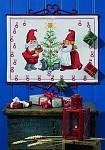 Hvid julekalender med nisser