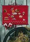 Rød julekalender med lademotiv