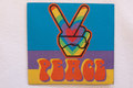 Peace strygemærke 6,5 x 7cm