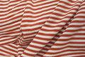Bomuldsjersey med 5 mm rød-hvide striber