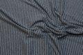 Smalstribet jersey lysegrå og mørkegrå