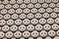 Grå isoli med 5 cm pandahoveder