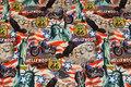 Flot bomuldsjersey med klassiske USA-motiver