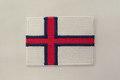 Finsk flag strygemærke 5x7cm