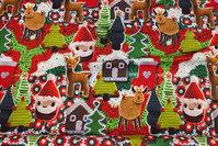 Julejersey med søde hæklede figurer