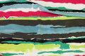 Tværstribet viscosejersey i grønne og pink nuancer