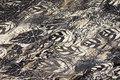 Mønstret let strik i grå og sand