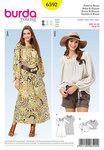 Bluse og kjole med firkant halsudskæring
