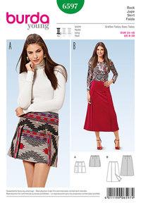 Burda mønster: Klokkeformet nederdel