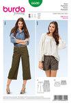 Trekvart bukser, shorts, formet taljebånd