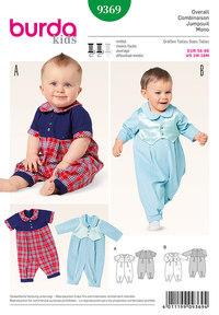 Burda mønster: Baby Jumpsuit, Peter Pan Krave