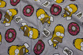 Lysegrå meleret Simpson-isoli med ruet vrang