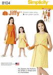 Reversibel Jiffy Slå-om kjole