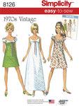 Lette vintage 1970er kjoler