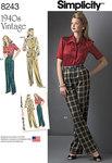 Vintage 1940 bukser, skjorte