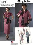 1950er kjole, tørklæde, foeret jakke
