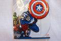 Captain America strygemærke, ca 7x7cm