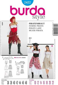 Piratkvinde. Burda 2422.