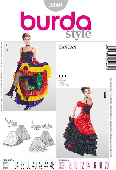 Cancan kostume