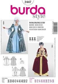 Rococo kjole. Burda 2447.