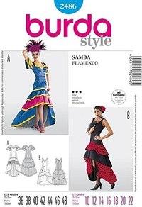 Samba Flanenco kjole. Burda 2486.