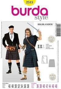 Highlander, Kilt. Burda 2515.