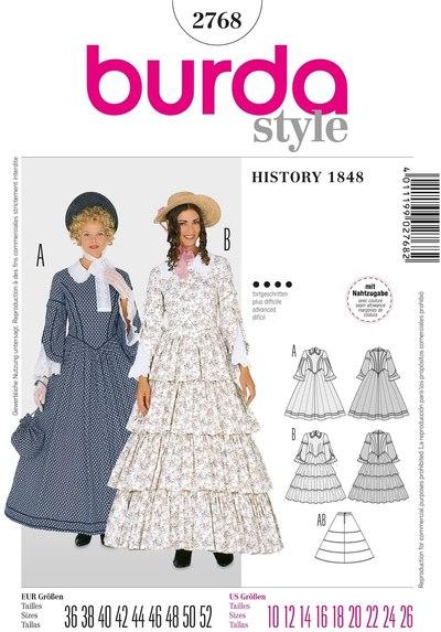 19ende århundrede kvinde kostume