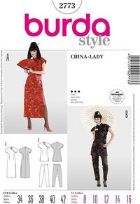 Suzy Wong kjolesæt, kinesisk. Burda 2773.