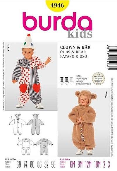 Bamseudklædning, bjørn, klovn