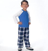 Drenge top, shorts og bukser. Butterick 6278.