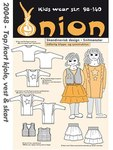 Onion 20048. Top, kort jakke, vest og skørt.