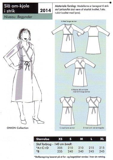 Slå-om kjole i strik