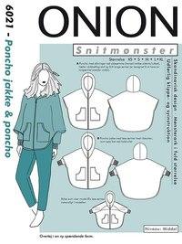 Poncho jakke og poncho. Onion 6021.