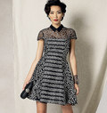 Vogue 1484. Klokkeformet kjole, Zandra Rhodes.