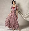 Vogue 9168. Flutter-ærmekjole, bælte og slip, Kathryn Brenne.