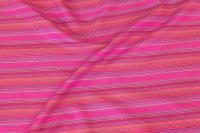 Blød, let bomuldsflonel i pink striber