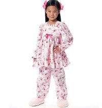 Børne-pige-top -kjole og -bukser. Butterick 6277.