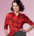 Butterick 6285. Top og nederdel .