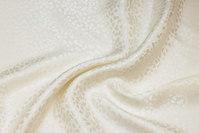 Elegant bluse-silke i off white jacquardvævet