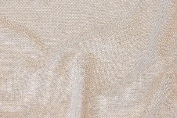Groftvævet, let bomuld/hør i meleret sand/off white