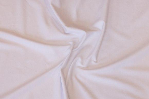 Hvid bomuldsjersey