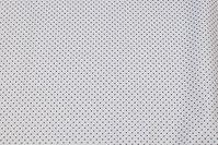 Hvid fast bomuld med sort miniprik