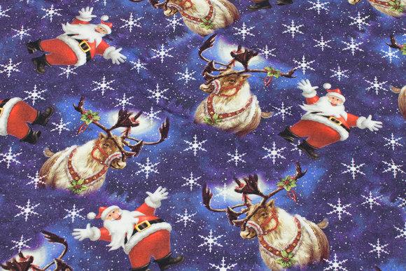 Julejersey med julemænd og rensdyr