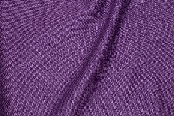 Møbelstof i meleret mørk lilla med lys bagside