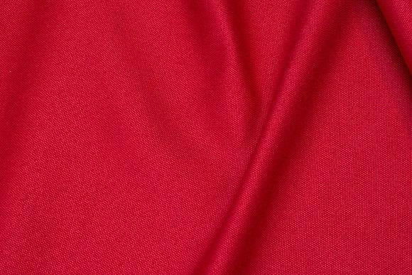 Møbelstof i meleret rød med lys bagside