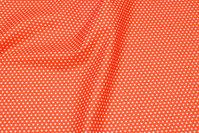 Orange, fast bomuld med hvide ministjerner